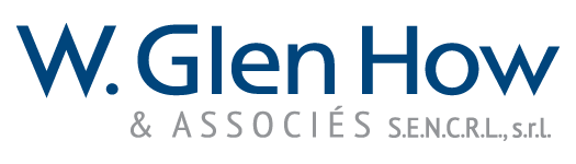 Image of the W Glen How & Associates LLP logo in French