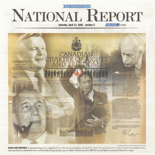 Picture of a National report from the Toronto Star in April 2002.